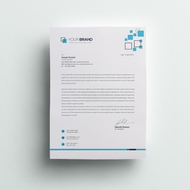 企業レターヘッド Premium Psd