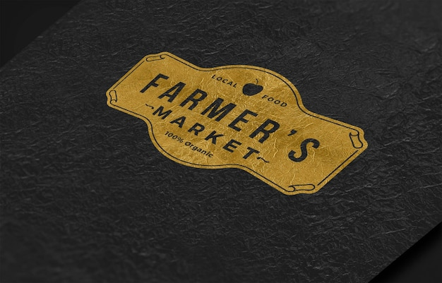 Corporate logo mock up on product Premium Psd