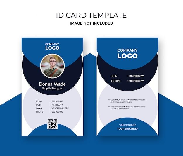 Corporate office id card template Premium Psd