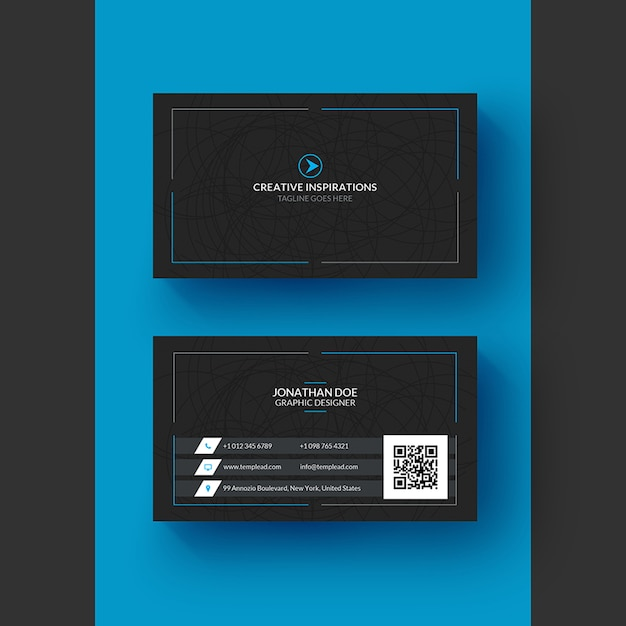 Corporate professional business card Premium Psd