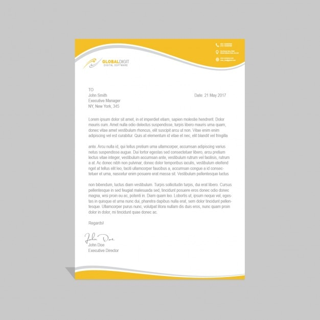 Corporate Psd Letterhead Template Psd File: Corporate PSD Letterhead Template PSD File