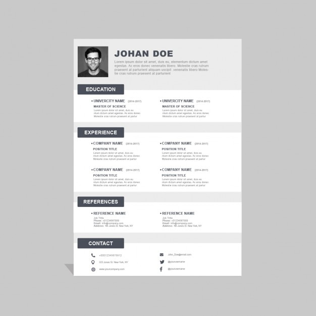Corporate Resume Template Psd File  Free Download