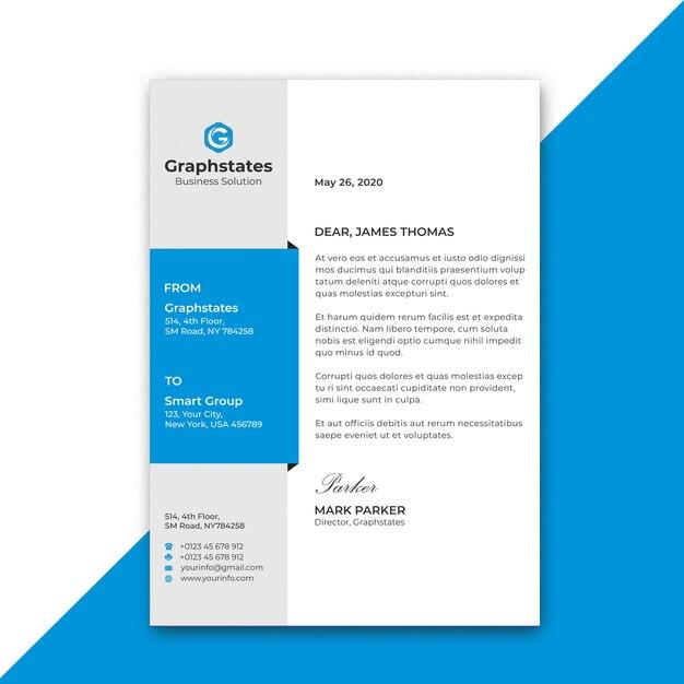 Corporate resume template Premium Psd