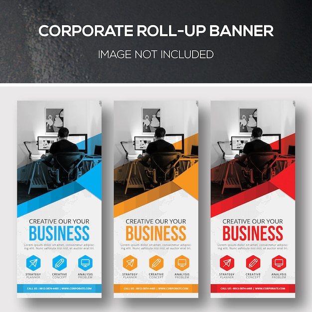 Corporate roll-up banner Premium Psd