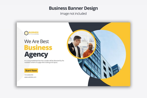 Corporate slider design with call to action template for website Premium Psd
