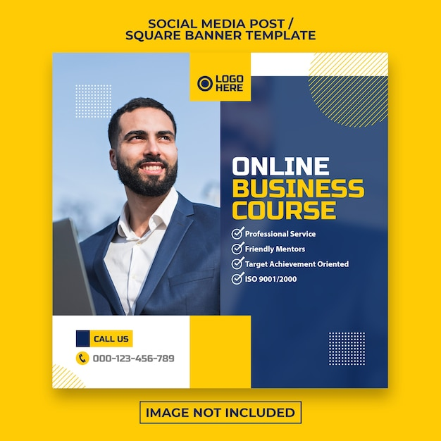 Corporate social media post or square web banner template Premium Psd
