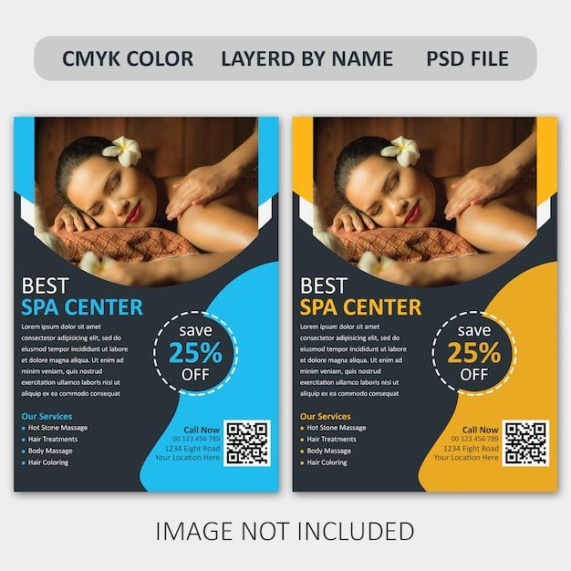 Corporate spa flyer template Premium Psd