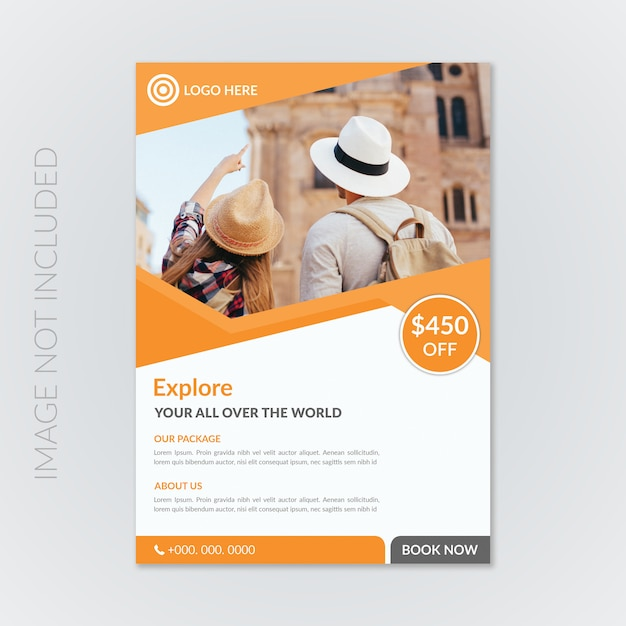 Corporate travel flyer Premium Psd