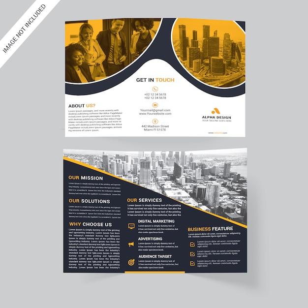 Corporate tri-fold brochure Premium Psd