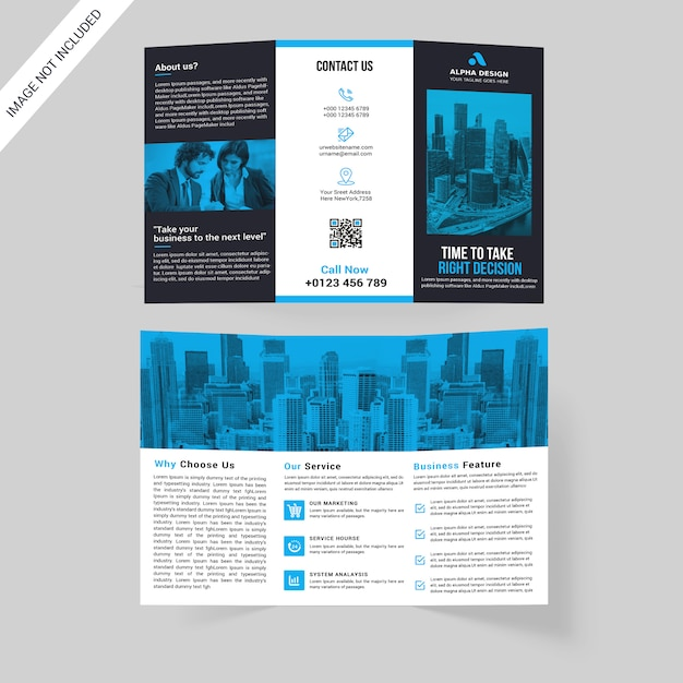 Corporate tri-fold brochure Premium Psd
