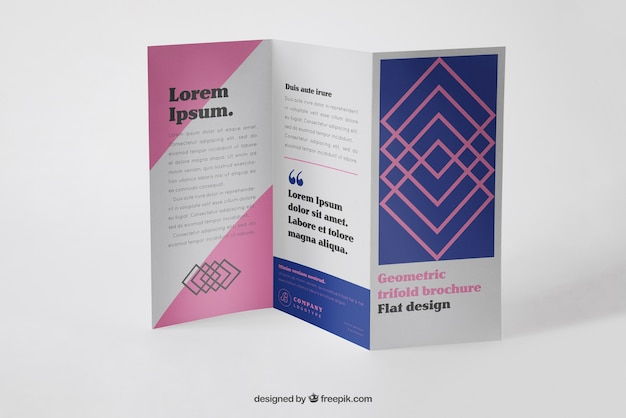 corporate trifold brochure mockup free psd