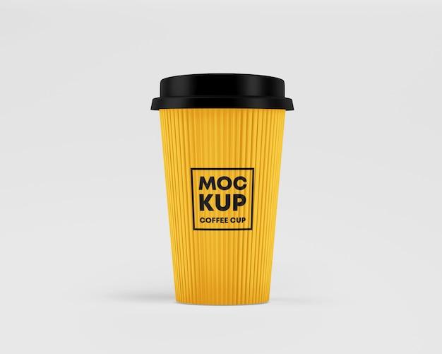 Corrugated paper cup mockup Premium Psd