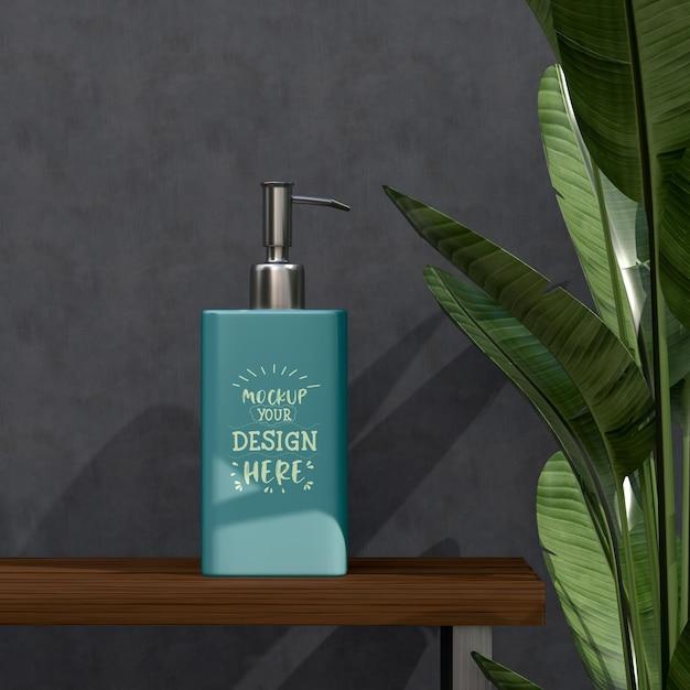 Косметический контейнер мокап для крема, лосьона, сыворотки, пустой упаковки для ухода за кожей Бесплатные Psd