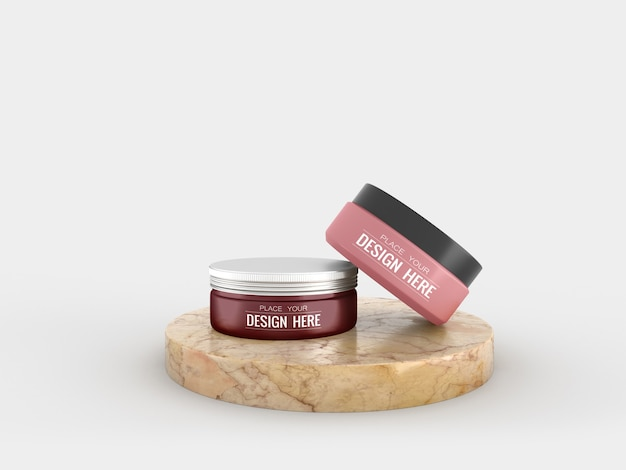 Контейнер для косметического крема мокап для крема Бесплатные Psd