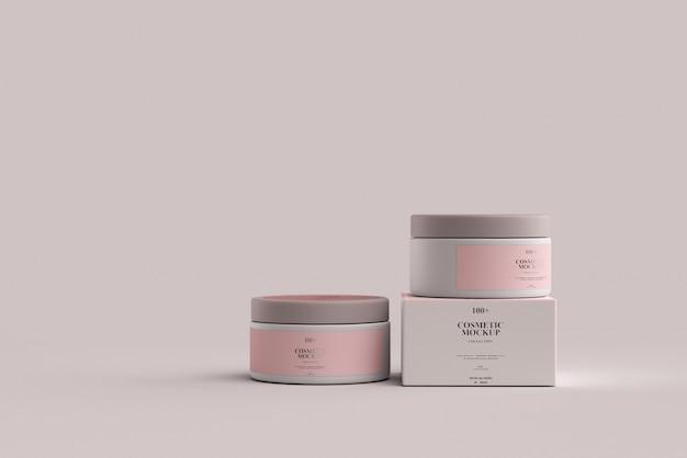 Cosmetic jar mockups Premium Psd