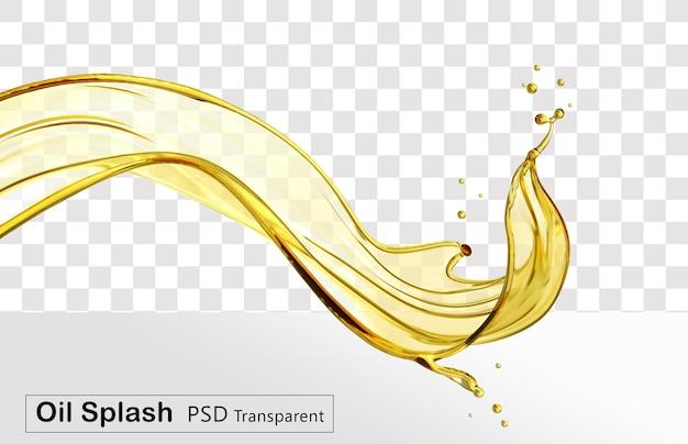 Косметическое жидкое масло или оливковое масло изолированы Premium Psd