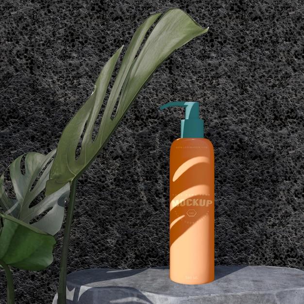 화장품 패키지 디자인 모형. 브랜딩 디자인을위한 포장 프리미엄 PSD 파일
