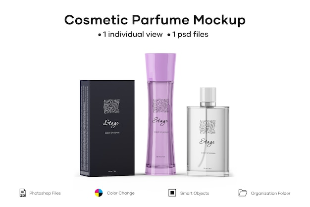 Косметический парфюмерный макет Premium Psd