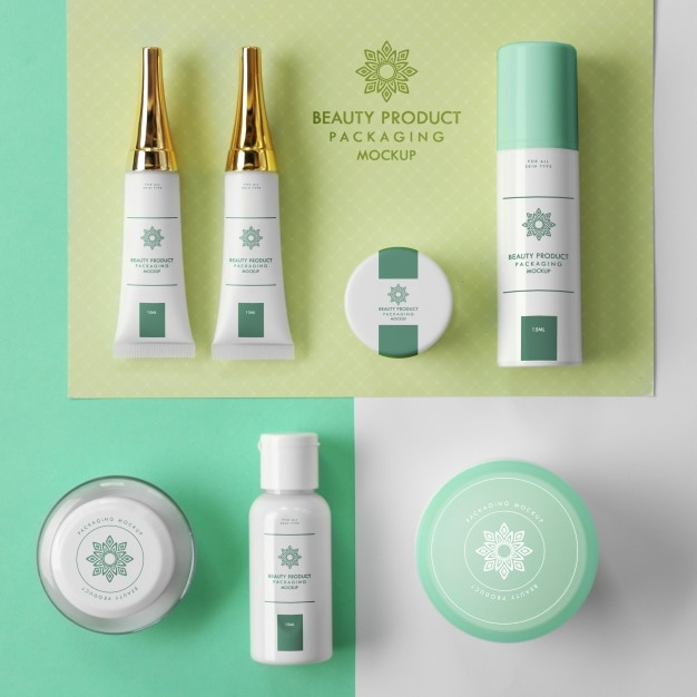 Cosmetics mock up design Free Psd