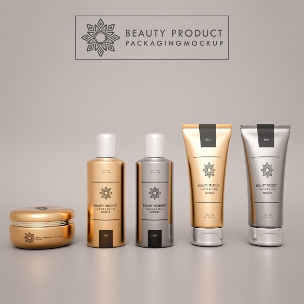 Cosmetics mock up design Free Psd