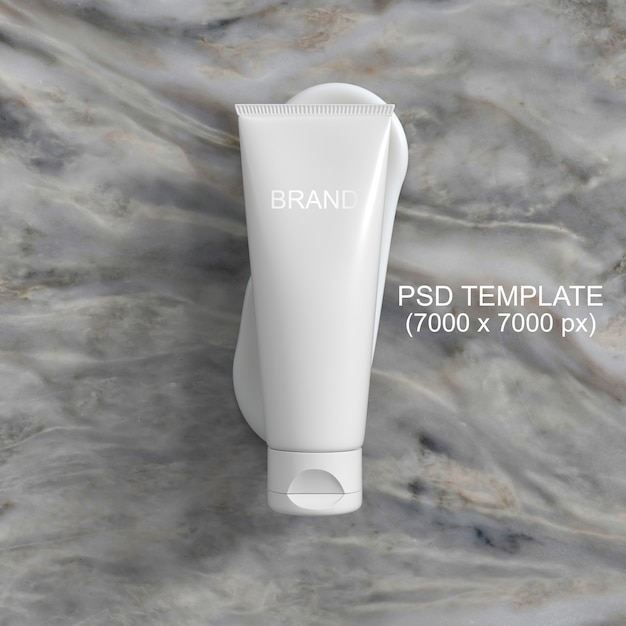 Cosmetics packaging cream mockup psd template Premium Psd