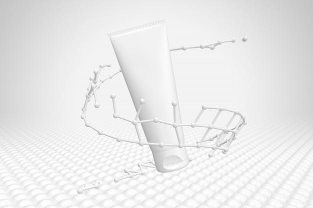 Cosmetics packaging mockup molecule Premium Psd