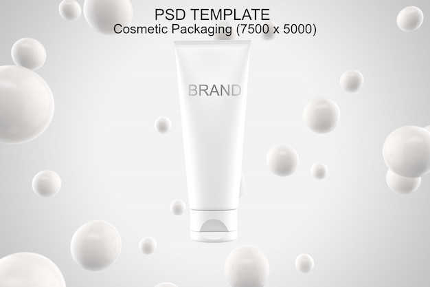 Cosmetics packaging mockup psd template Premium Psd