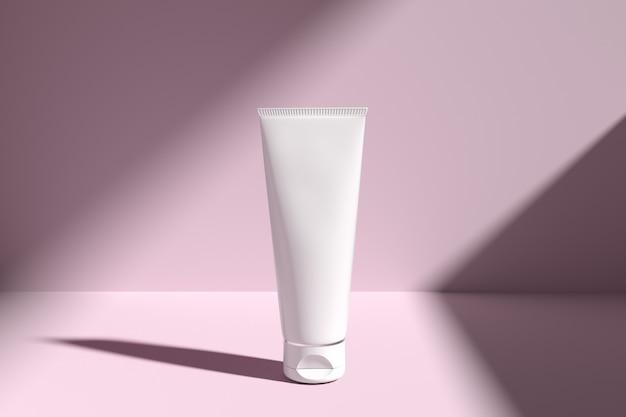 Cosmetics packaging mockup skincare light cookie Premium Psd