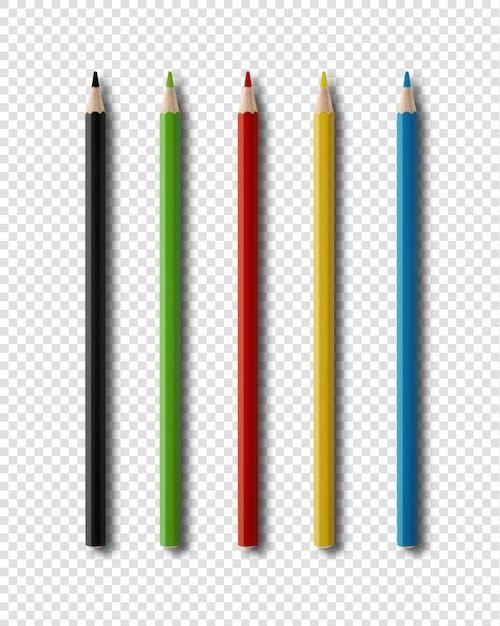 Coulouring pencils isolated on white Premium Psd