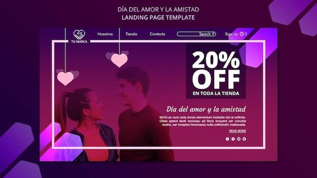 Пара смотрит друг на друга шаблон целевой страницы Бесплатные Psd