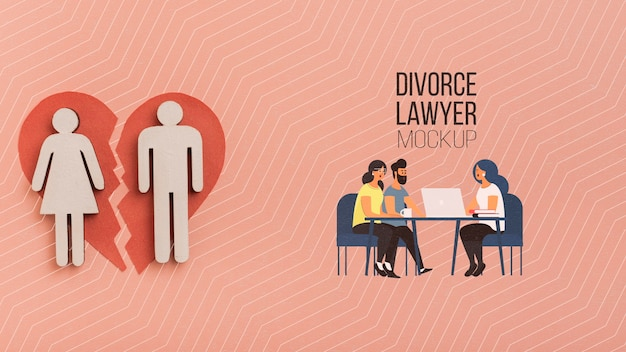 Couple talking to attorney concept Free Psd