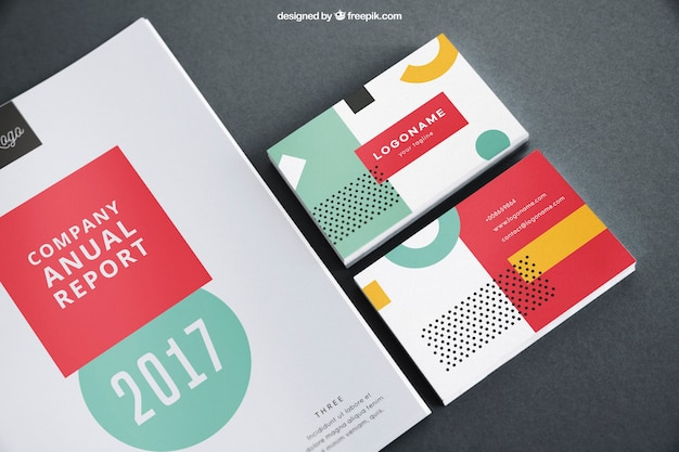 Cover and business card mockup psd file free download cover and business card mockup free psd reheart Images