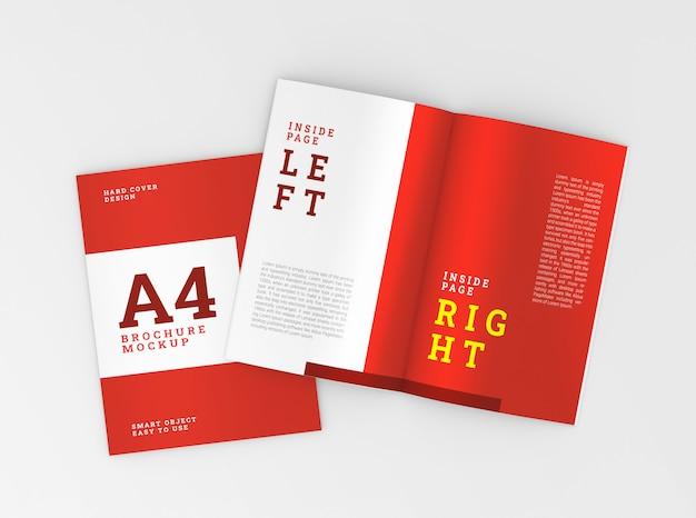 표지 및 내부 A4 브로셔, 소책자 모형. 템플릿. 프리미엄 PSD 파일