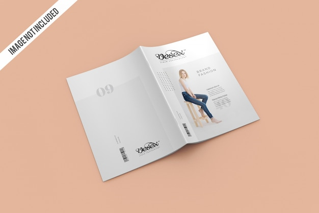 Cover and backcover magazine mockup Premium Psd