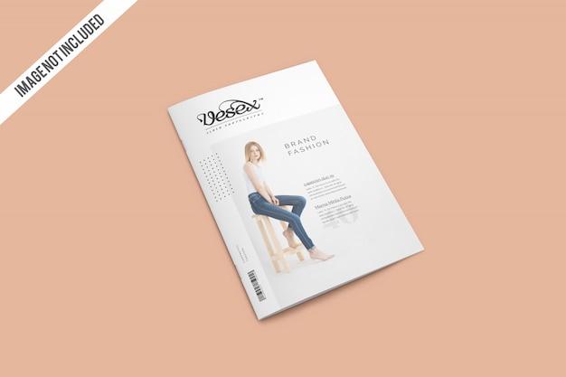 雑誌のモックアップをカバー Premium Psd