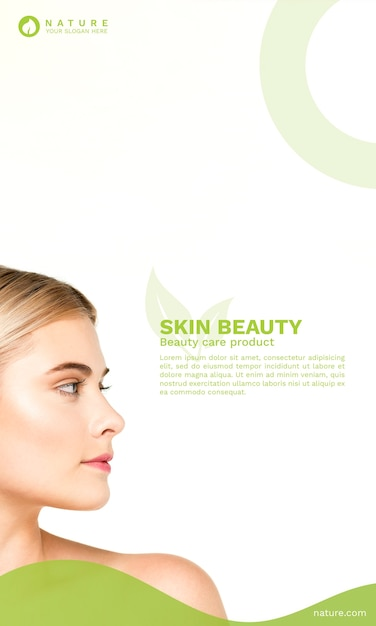 Cover template with beauty concept Free Psd