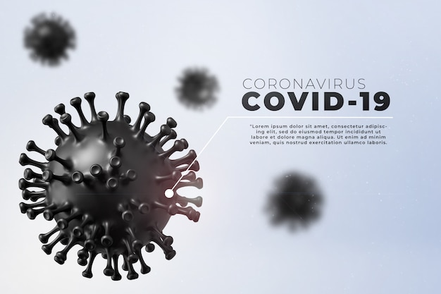 Covid-19, corona disease infection medical illustration showing the structure of epidemic virus. contagion and propagation of disease pathogen influenza covid. Premium Psd