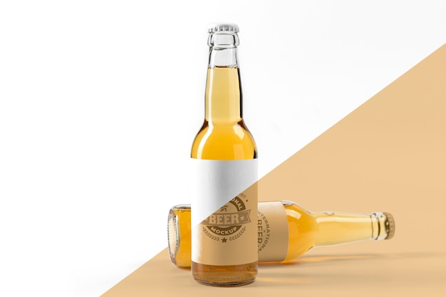 Craft beer  arrangement concept mock-up Free Psd