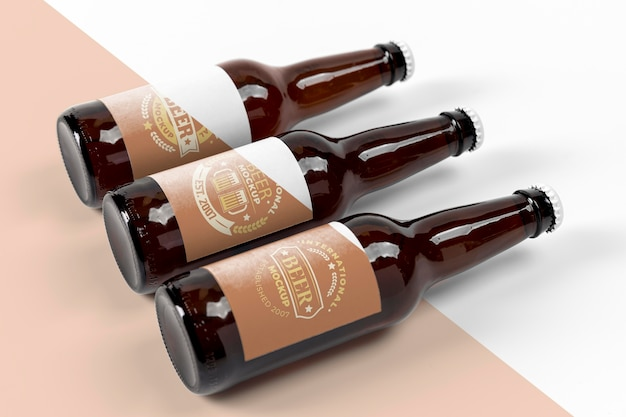 Craft beer  arrangement concept mock-up Premium Psd