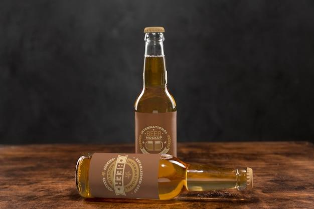 Mock-up di concetto di birra artigianale Psd Gratuite