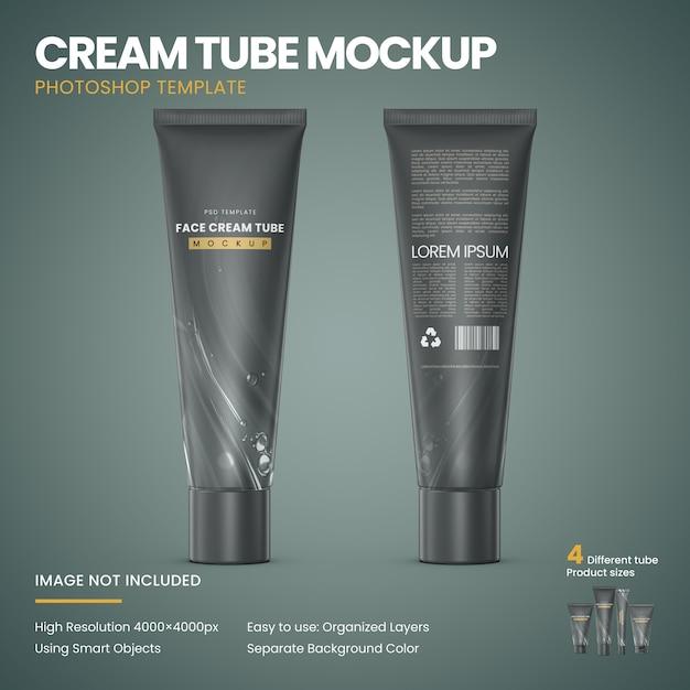 Cream tube mockup Free Psd