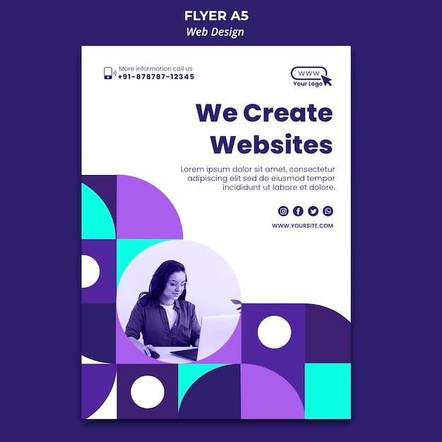 ウェブサイトのチラシテンプレートを作成する 無料 Psd