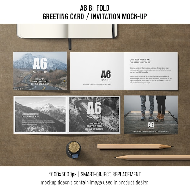 creative a6 bi fold invitation card template psd file free download