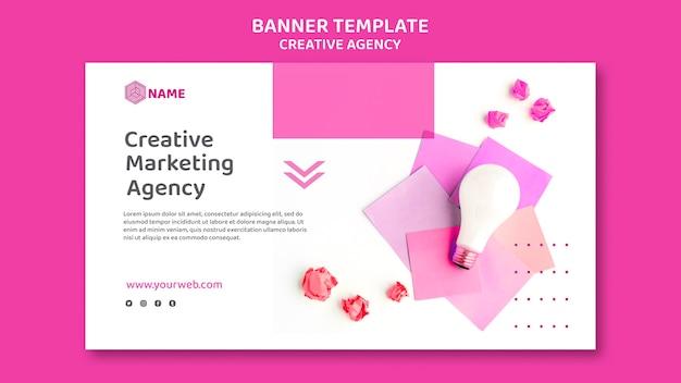 Шаблон баннера креативного агентства Бесплатные Psd