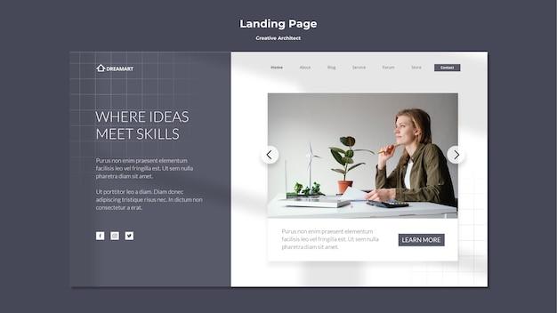 Creative architect landing page Free Psd
