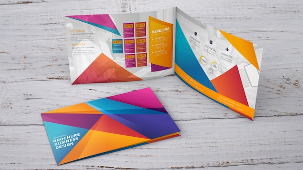 Творческая презентация макета брошюры Бесплатные Psd