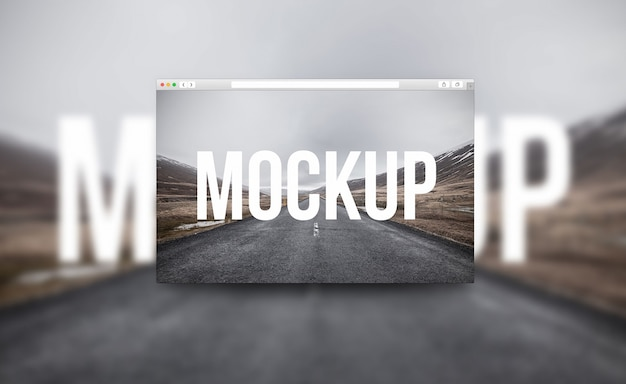 Creative browser mockup Free Psd