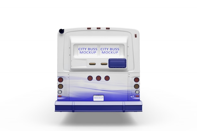 Creative bus mockup Free Psd