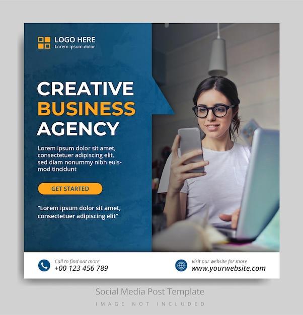 Creative business agency social media post template Premium Psd