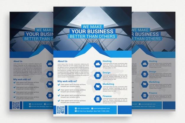 創造的なビジネスパンフレット 無料 Psd